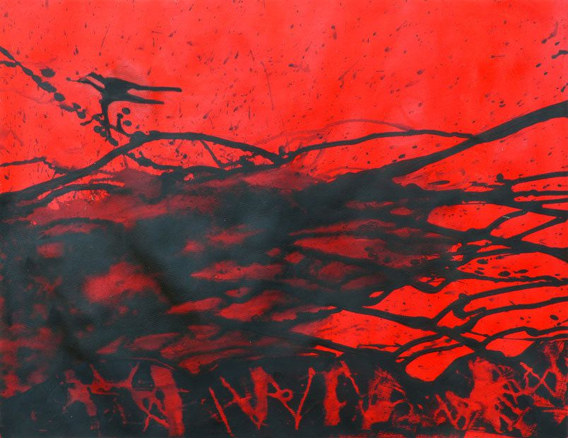 Peinture de Mireille Vincent (splash n°1)