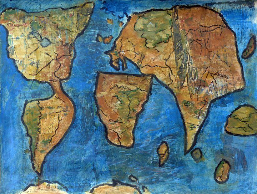 Refaire le monde - Peinture de Dominique de Bus