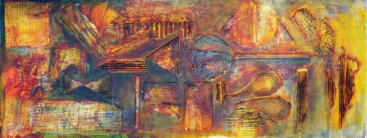 Collage relief de Françoise Guillemare