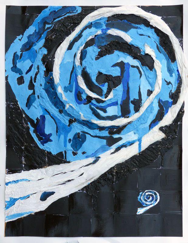 Peinture en six jours, par Jeanine Mandille.