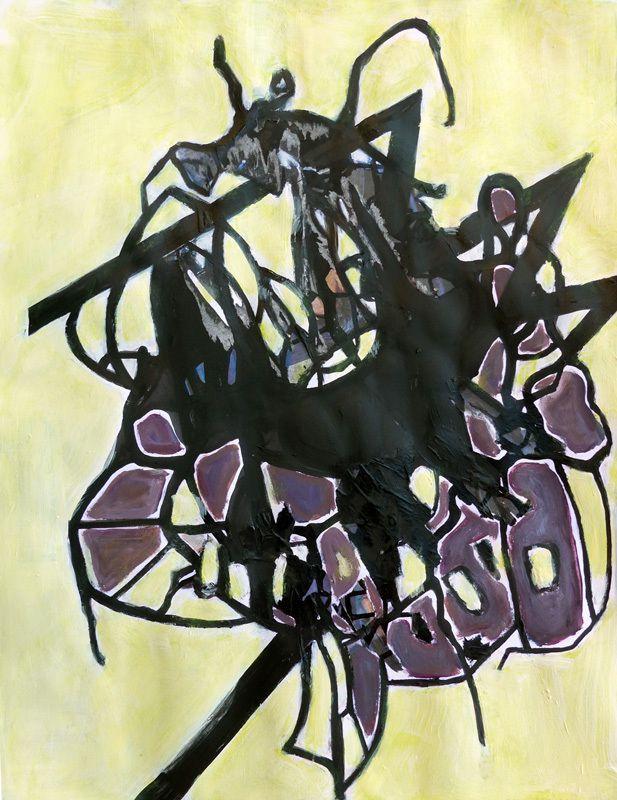 Peinture et collage de Sylvie Sciancalepore