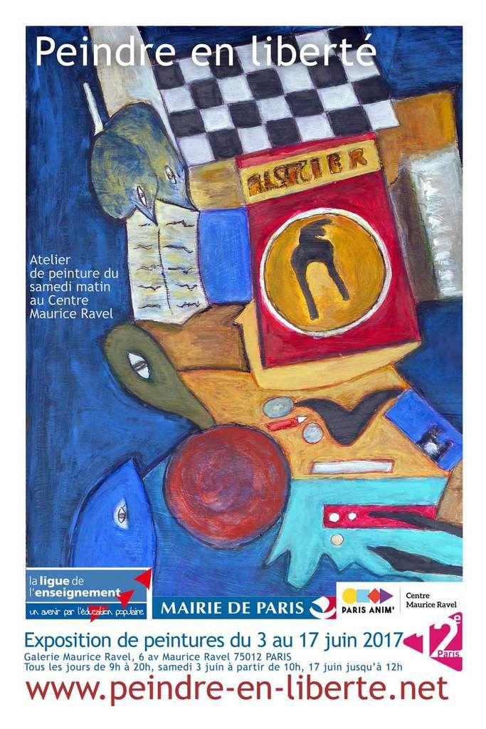 Exposition Peindre en liberté au Centre Maurice Ravel