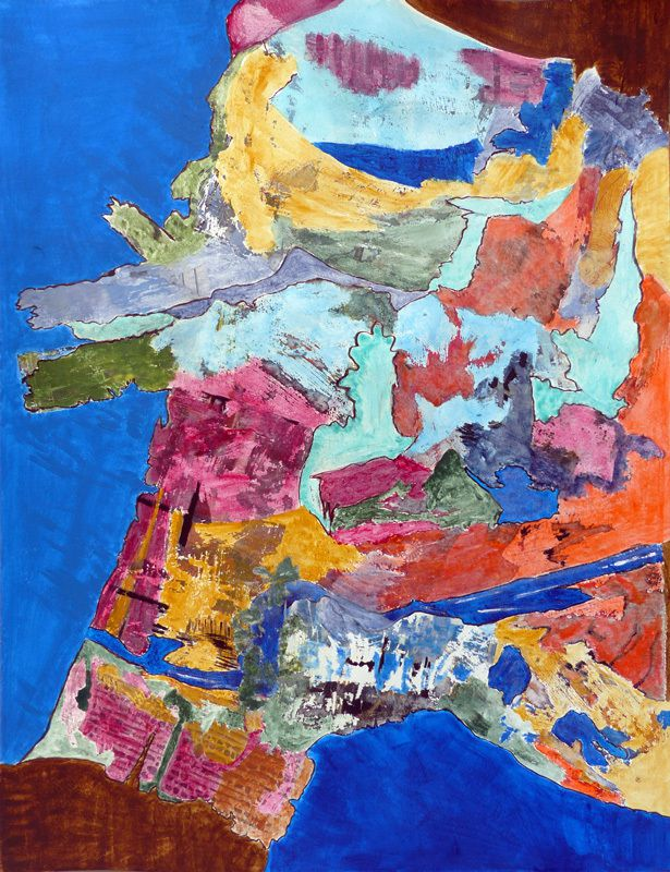 Peinture et collage de Magda Rebutato