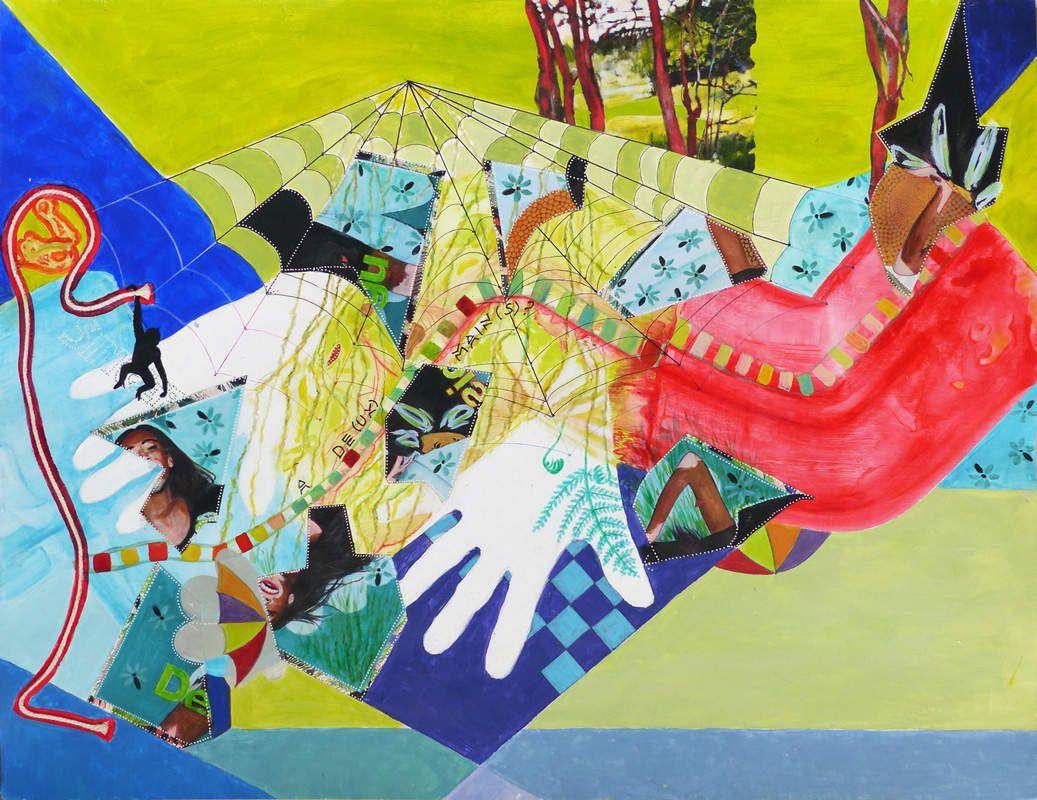 Peinture et collage d'Ariane Lacroix