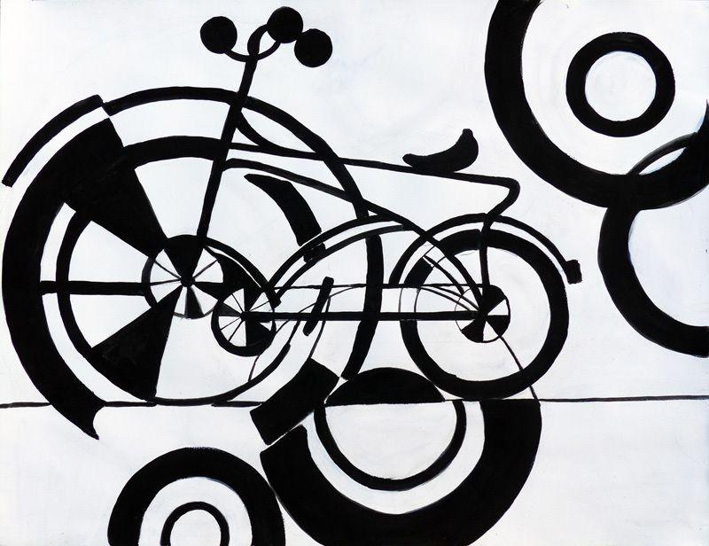 Vélo emprunté à Delaunay, par Jacqueline Putatti