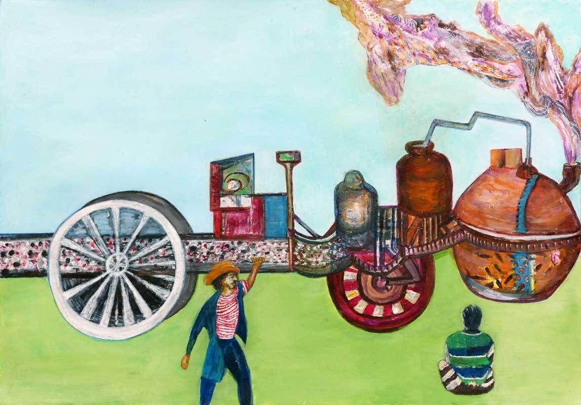 Collage et peinture de Michelle Brycman