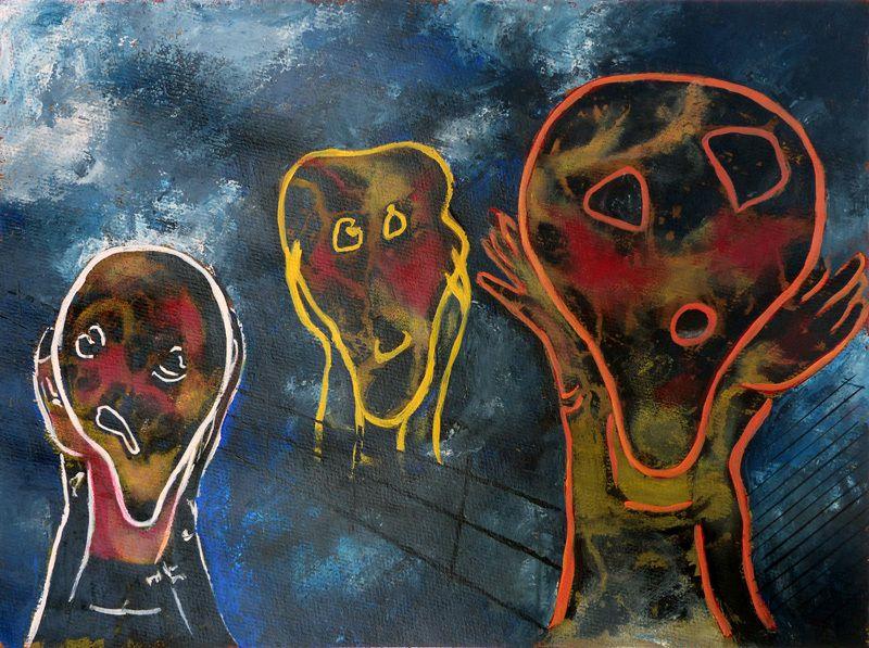 """""""Le cri"""" de Munch, interprété par Elyane Meneaud"""