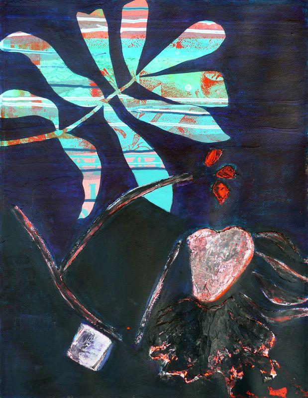 Peinture et collage de Catherine Calop