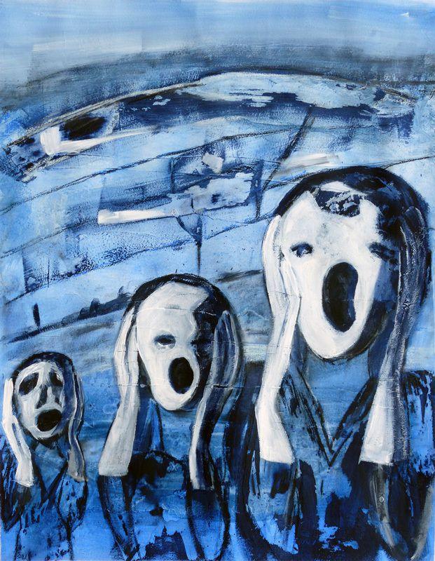 """""""Le cri"""" de Munch, interprété par Martine Rué (II)"""