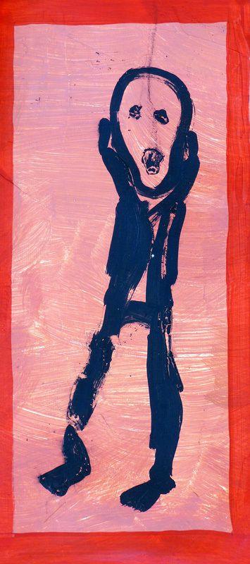 """""""Le cri"""" de Munch, interprété par Jean-Jacques Siamer (détail) II"""