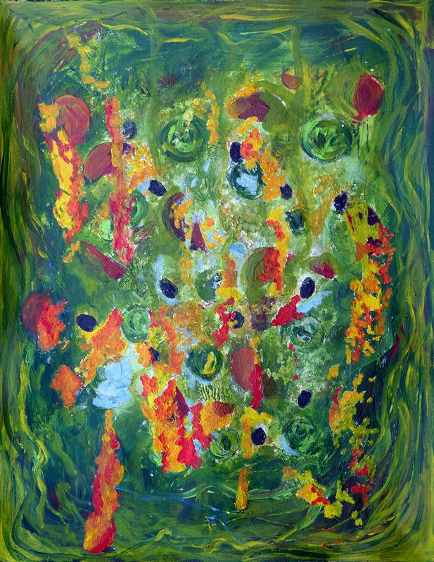 Salade composée, peinture d'Ely