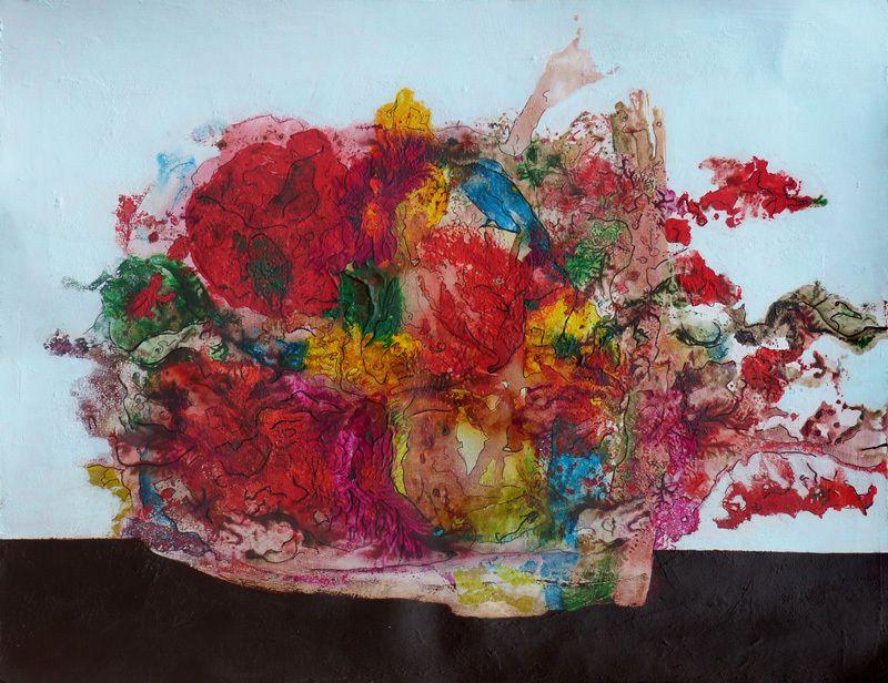 Salade composée, peinture d'Evelina Nichanian