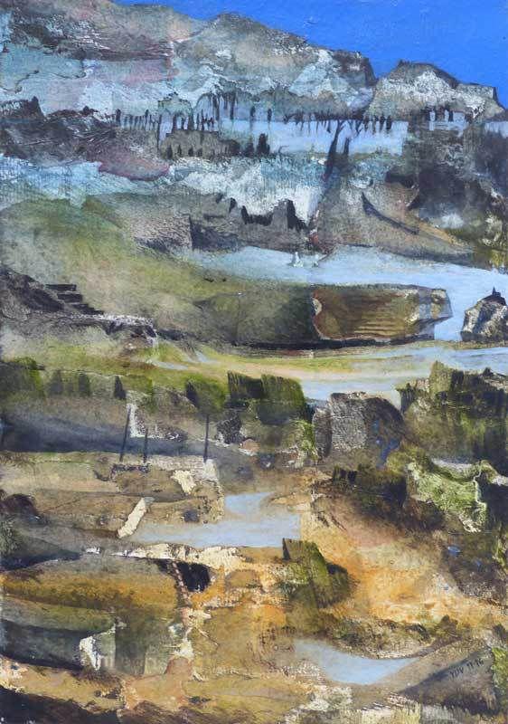 N°2054 - Acrylique sur papier 35 x 50 cm - Coll. Laurent Pince et Martine Lucy