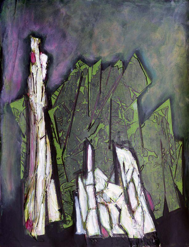 Acrylique et collages sur papier marouflé sur châssis - 50 x 65 cm - Coll. Laurent Pince et Martine Lucy