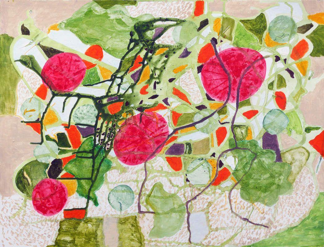 Peinture et collage sur papier 50 x 65 cm