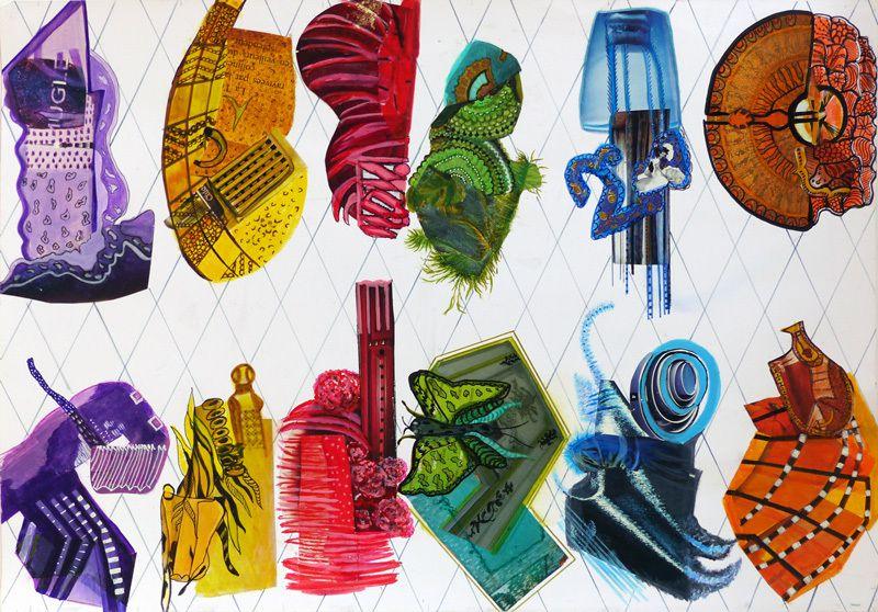 Peinture et collage de Michelle Brycman