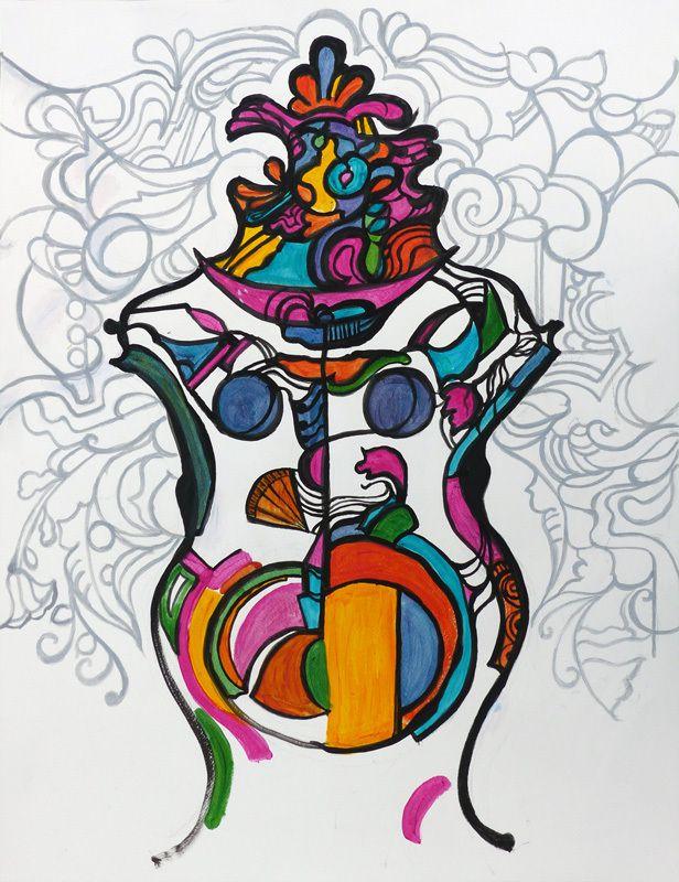 Collage et peinture de Jacqueline Putatti (II)