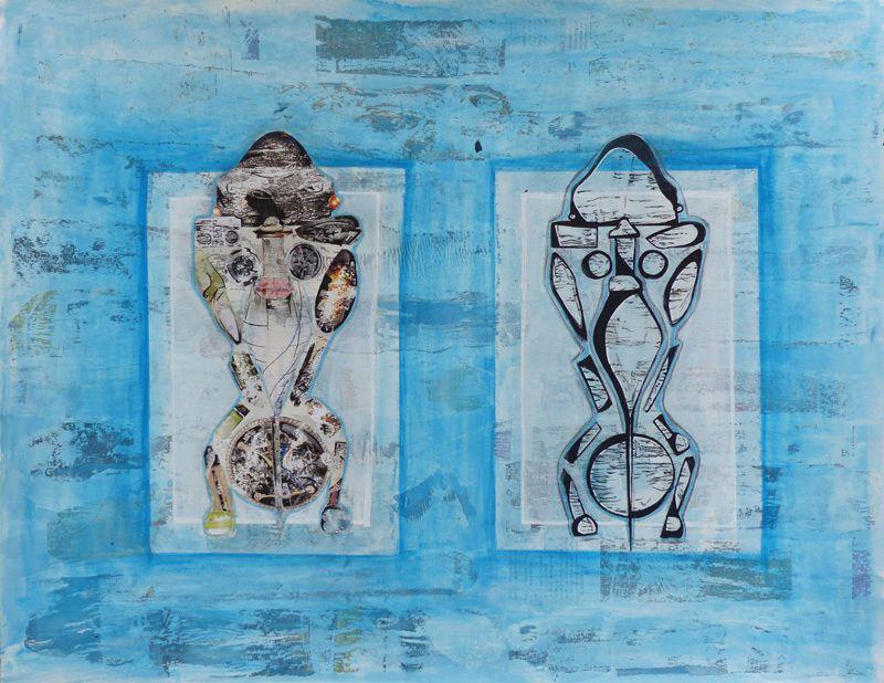 Collage et dessin de Catherine Turpin