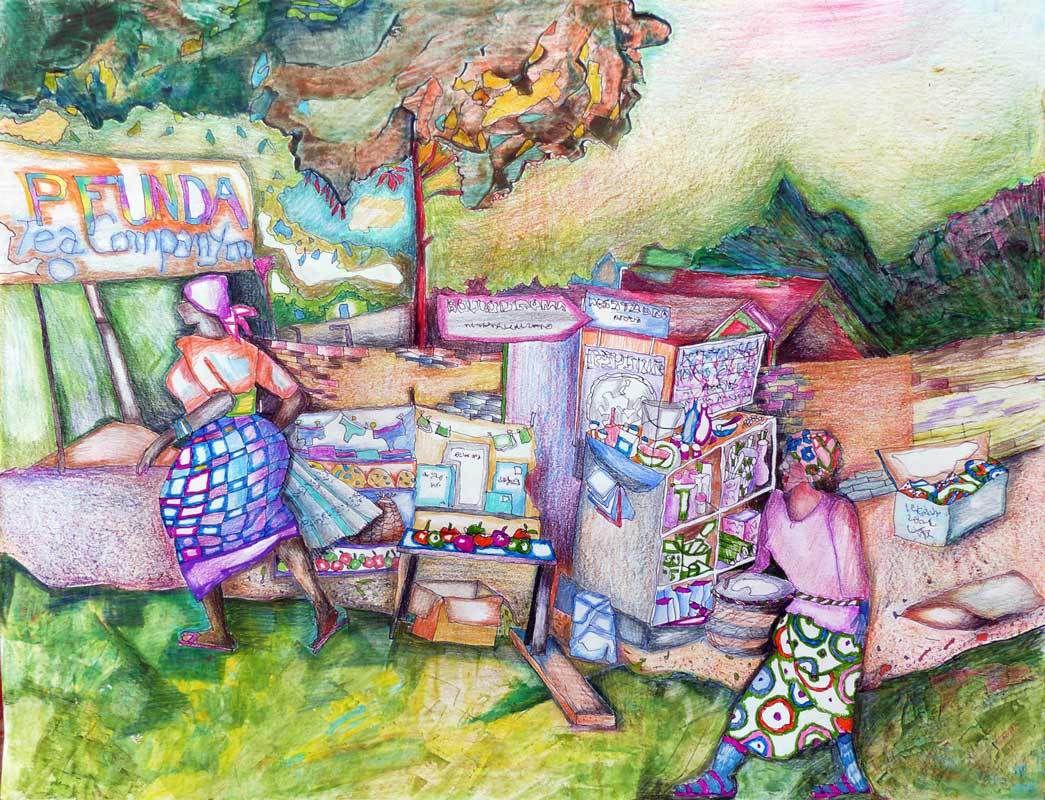 """Figuration créative en peinture : dans les ateliers """"Peindre en liberté"""" avec Yves Desvaux Veeska."""