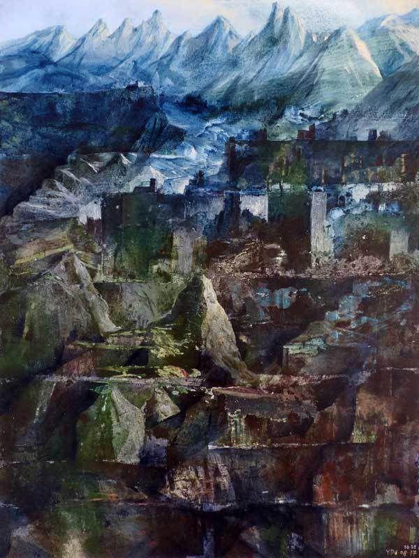 Peinture d'Yves Desvaux Veeska