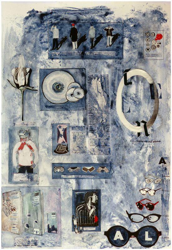 Peinture et collage de Martine Rué