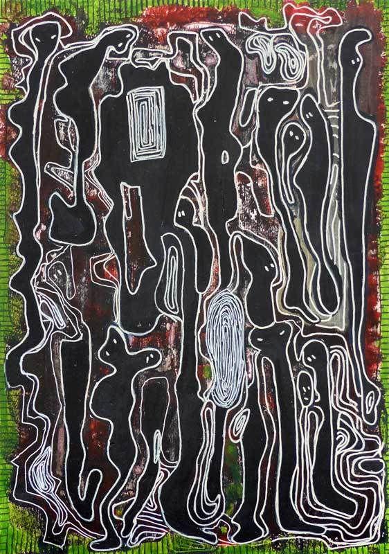 N°119 - Acrylique sur papier 2017 - 35 x 50 cm