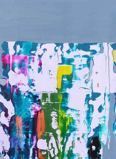 Stage Peindre en liberté avec Yves Desvaux Veeska - Composition de Martine Durand