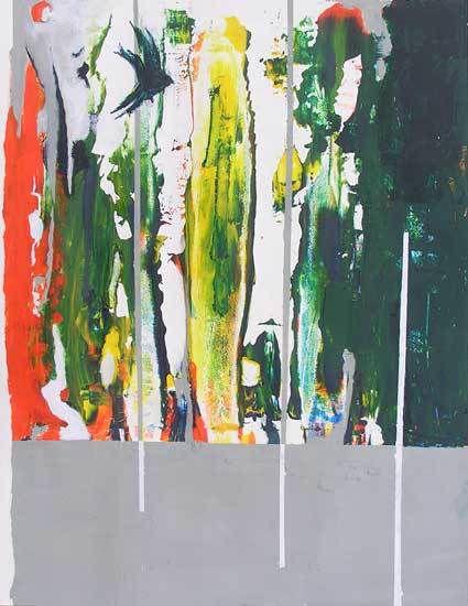 Stage Peindre en liberté avec Yves Desvaux Veeska - Composition de Claire Mossaz