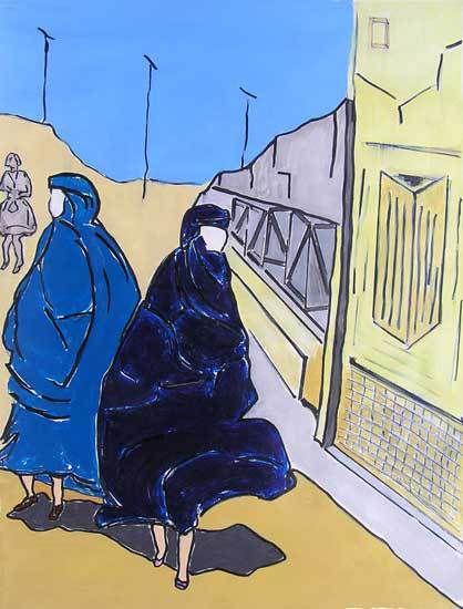 Stage Peindre en liberté avec Yves Desvaux Veeska - Composition de Chantal Lévêque
