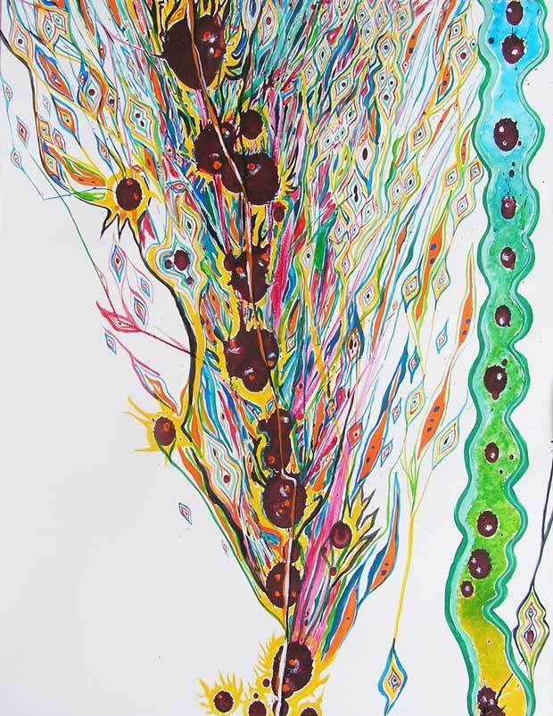 Stage Peindre en liberté avec Yves Desvaux Veeska - Peinture de Françoise Kahane