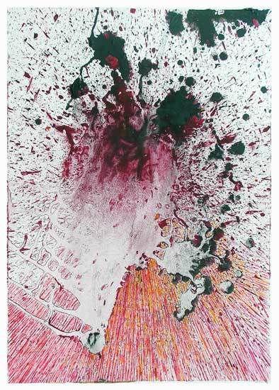 Stage Peindre en liberté avec Yves Desvaux Veeska - Peinture de Françoise LD