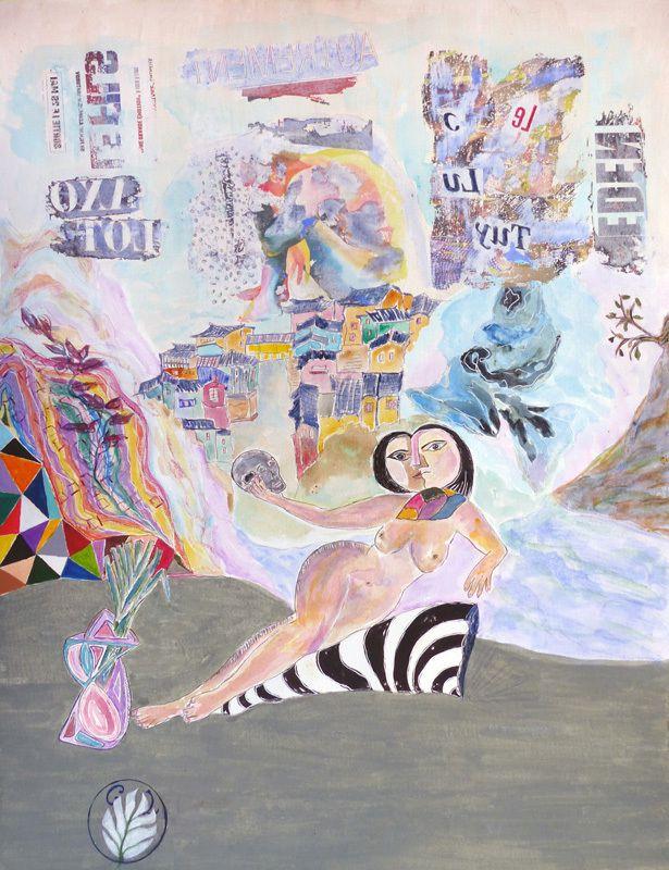 Peintures en neuf mois- Chantal Lévêque - Peindre en liberté