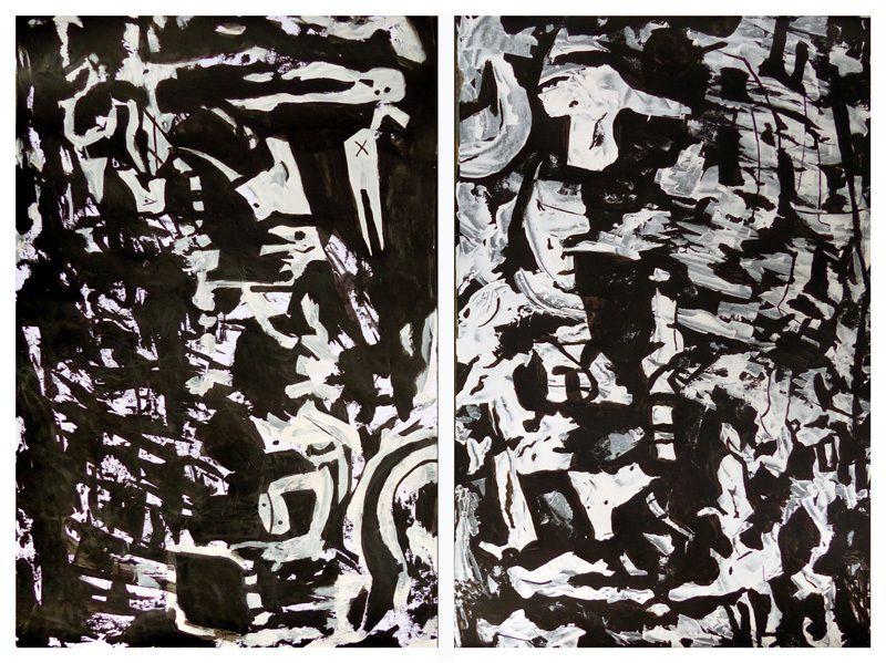 Eric Mourou - Acryliques sur papier 32,5 x 50 cm