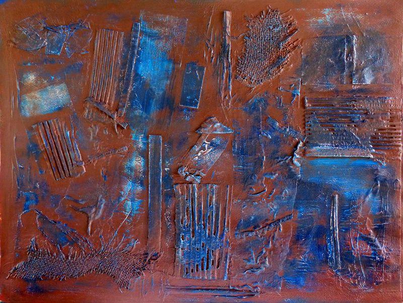 Collage et patine d'Odile Montet