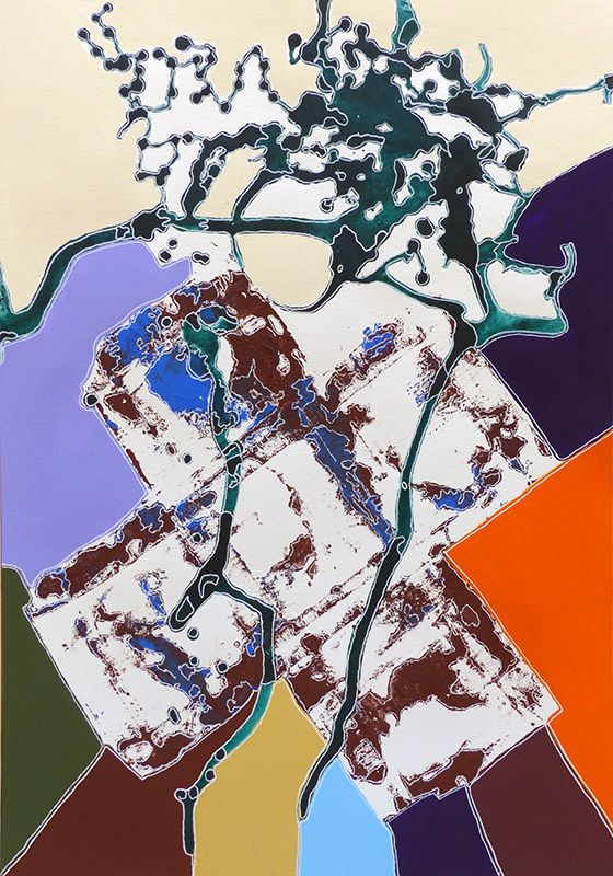 Elise Desvaux Nsongo - Peinture n°474 - 35 x 50 cm - 2020-04