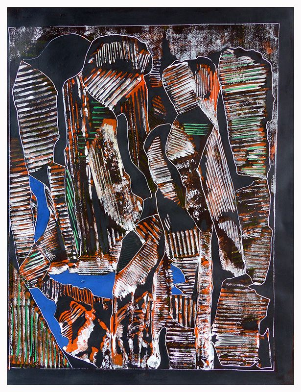Chantal Lévêque - Monotype polychrome et Posca.