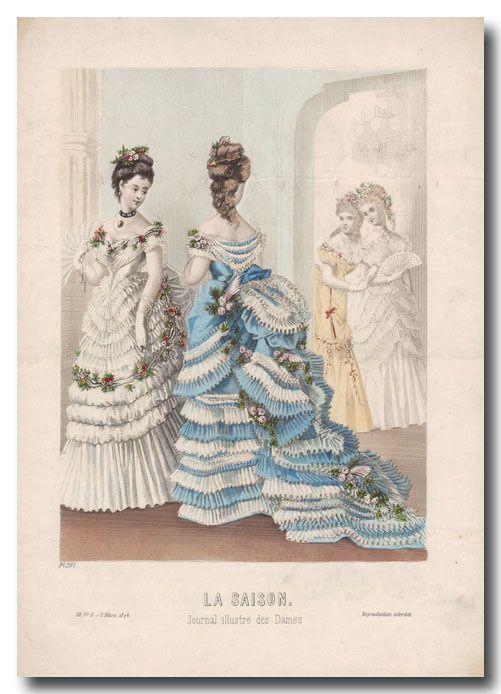 1874 la Saison : robes de bal