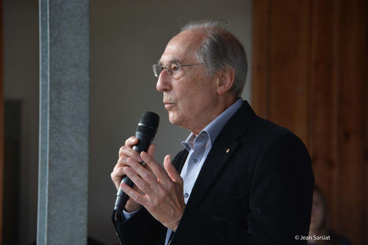 André Laufer, président de l'Amicale du Camp de Gurs