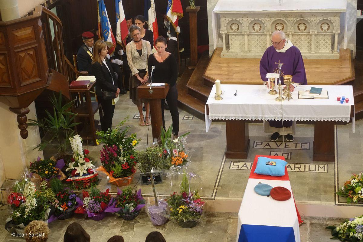 JASSES : La vallée d'Aspe a rendu un dernier hommage à  Marcel Minvielle... dans l'église où il avait été baptisé