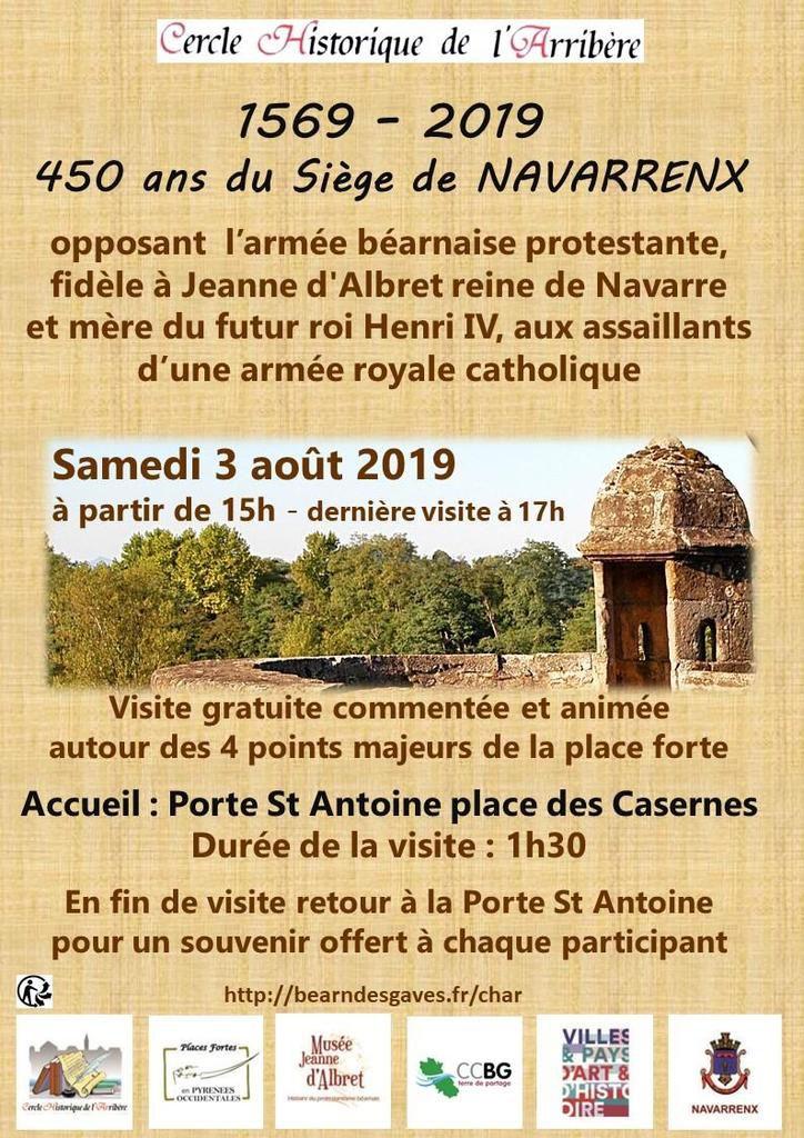 NAVARRENX : Le samedi 3 août, le C.H.AR va faire revivre le siège de 1569