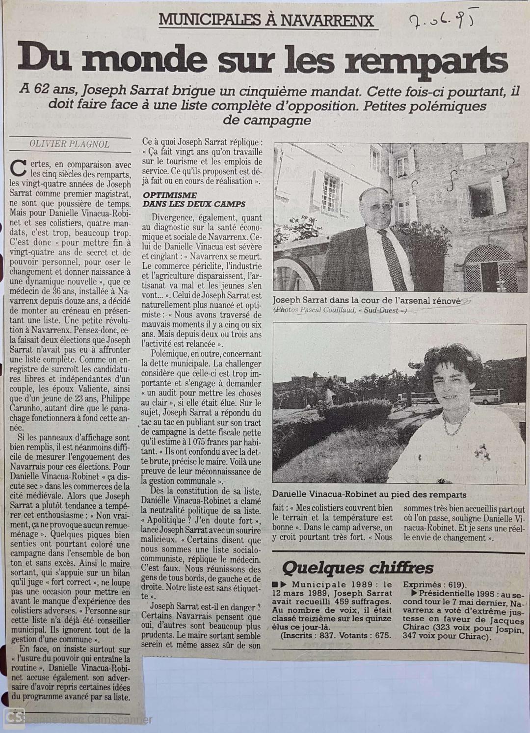 NAVARRENX : LA BATAILLE DE 1995