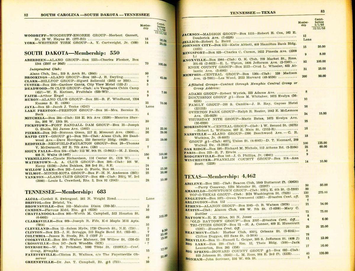AVRIL 1951 : AA dans le Monde