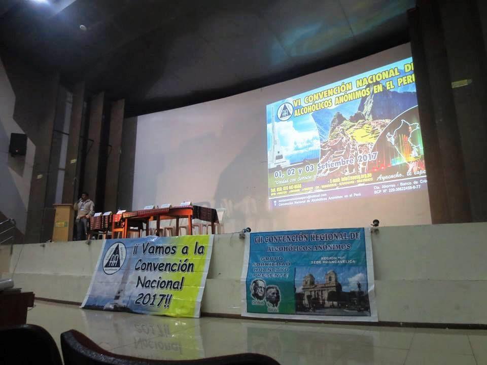 Annonce du Congrès National 2017 à la Convention de Huancavelica en 2016