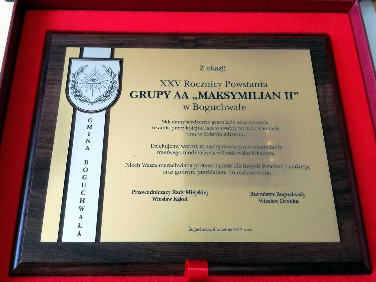 "25° anniversaire du groupe ""Maksymilian II"""