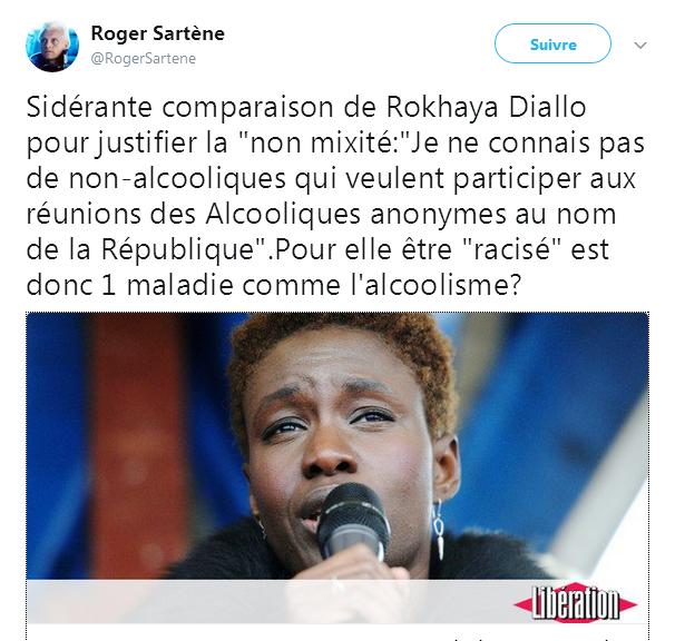 Rokhaya Diallo et ... les Alcooliques Anonymes