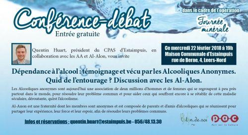 BELGIQUE, Estampuis - 22 Février : Témoignages AA & Al-Anon