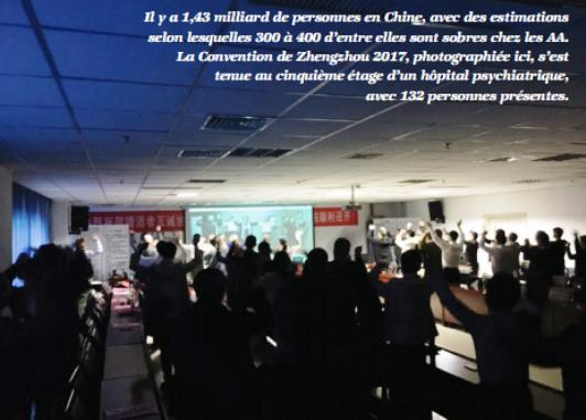CHINE : 1,43 milliards de Chinois et... 400 membres AA !