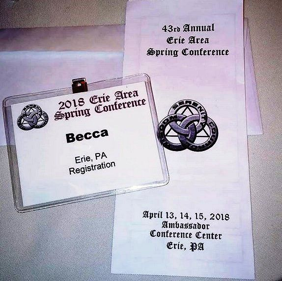 13-15 Avril 2018 : 43rd Annual 2018 Erie Area Spring Conference, à Erie, Pennsylvanie