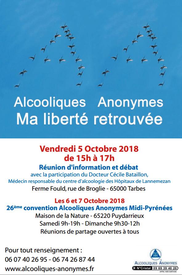 """""""La Bigorre accueille la convention régionale des Alcooliques Anonymes jusqu'à dimanche"""""""