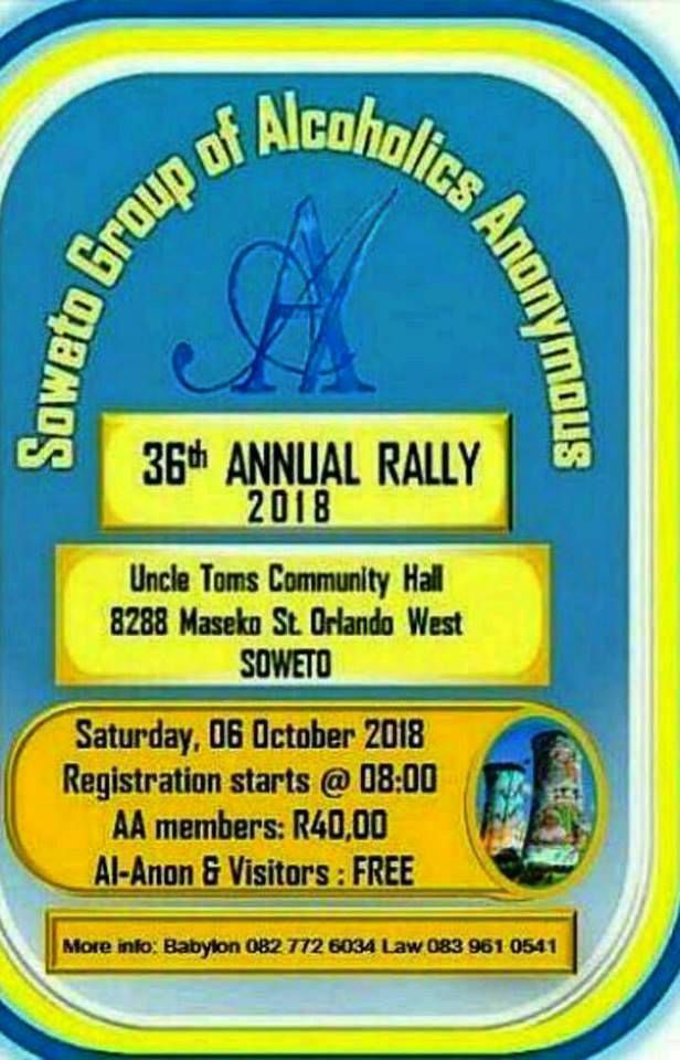 """6 Octobre 2018 : 36° rally annuel du  groupe """"Soweto"""""""